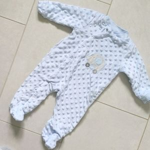 3 for $12! 3-6M Lined footie pajamas